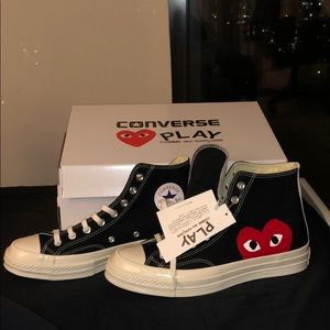 Black High-top CDG Converse Size 9US